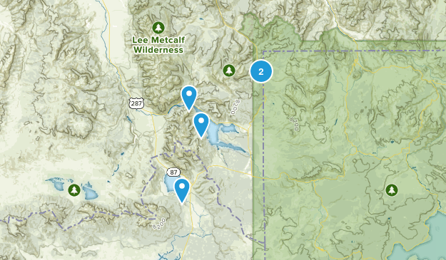 Lakeview, Montana Hiking Map