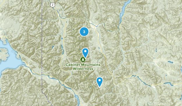 Libby, Montana Hiking Map