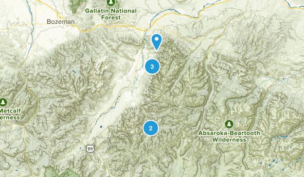 Livingston, Montana Hiking Map