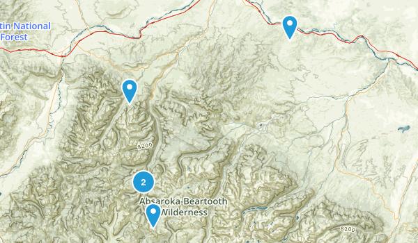 McLeod, Montana Hiking Map