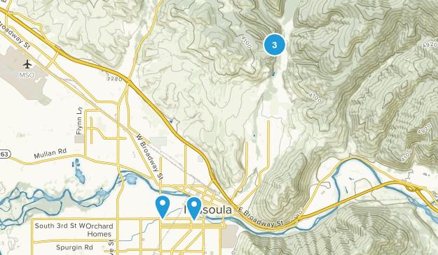 Missoula, Montana River Map