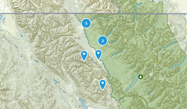 Polebridge, Montana Hiking Map