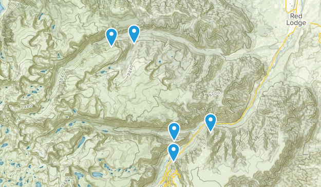Red Lodge, Montana Backpacking Map