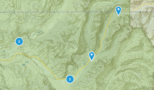 Silver Gate, Montana Camping Map
