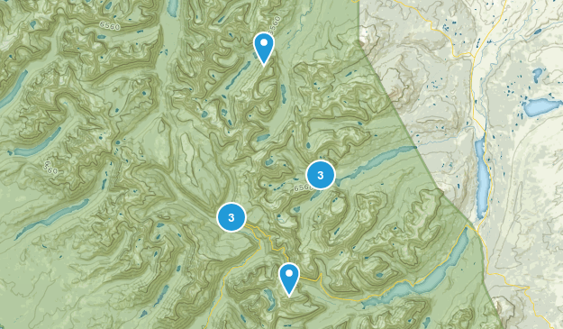 Swiftcurrent, Montana Camping Map