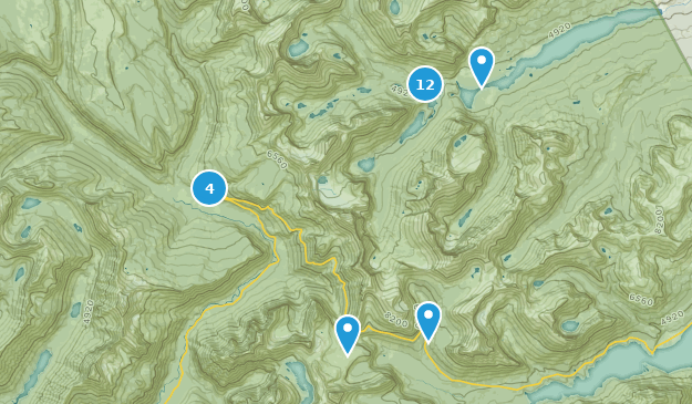 Swiftcurrent, Montana Hiking Map