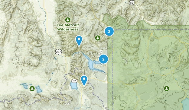 West Yellowstone, Montana Forest Map