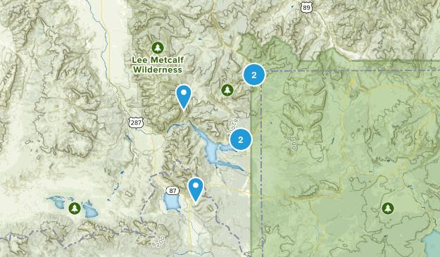 West Yellowstone, Montana Wild Flowers Map