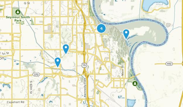 Bellevue, Nebraska Bird Watching Map