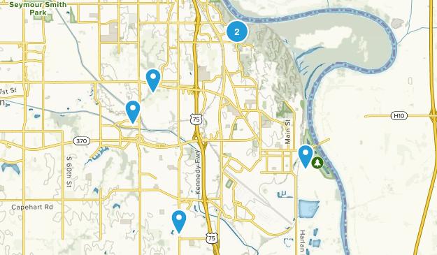 Bellevue, Nebraska Hiking Map