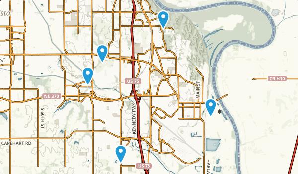 Bellevue, Nebraska Walking Map