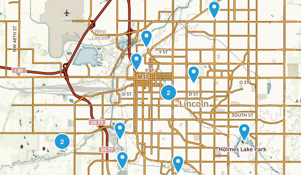 Lincoln, Nebraska Kid Friendly Map