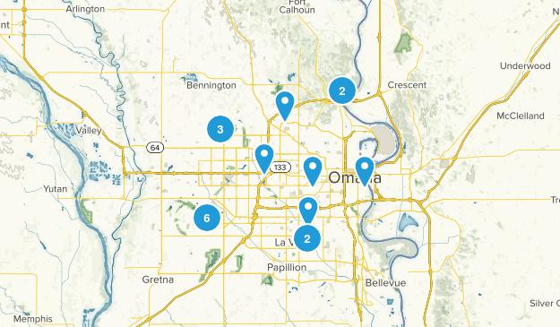 Omaha, Nebraska Trail Running Map
