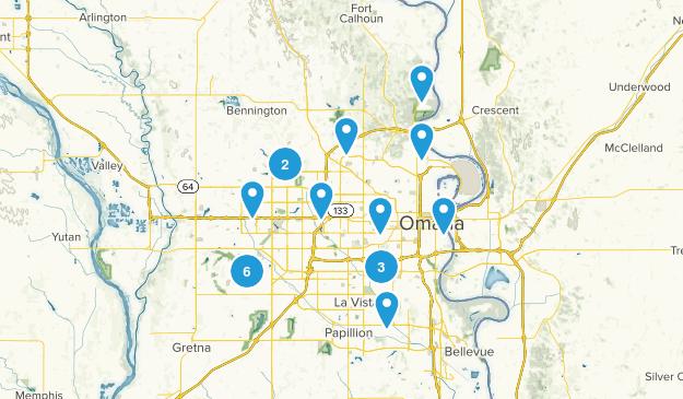 Omaha, Nebraska Walking Map