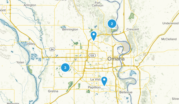 Omaha, Nebraska Wild Flowers Map