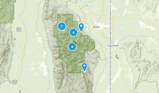 Baker, Nevada Birding Map