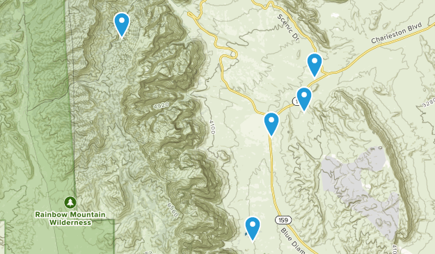 Blue Diamond, Nevada Dogs On Leash Map