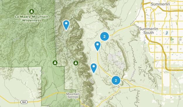 Blue Diamond, Nevada Trail Running Map