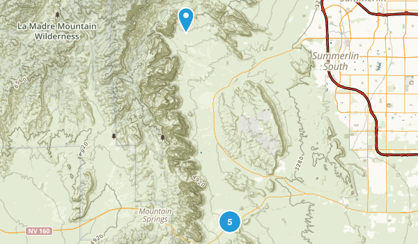 Bonnie Springs, Nevada Hiking Map