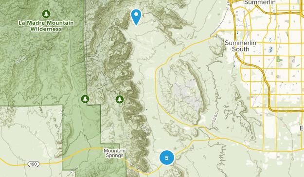 Bonnie Springs, Nevada Hiking Map