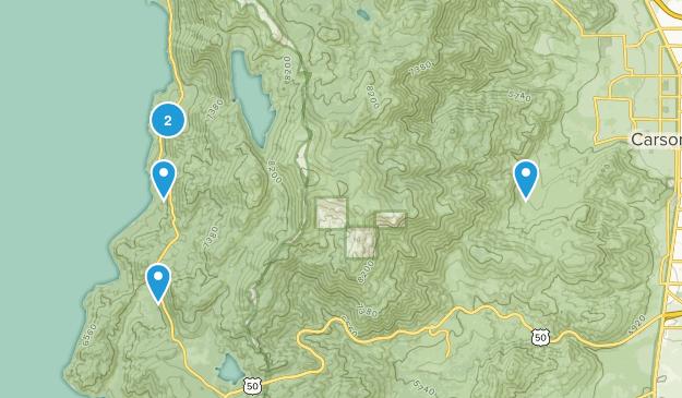 Carson City, Nevada Lake Map