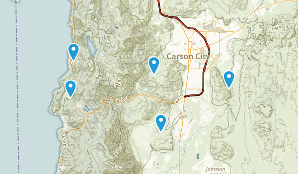 Carson City, Nevada Mountain Biking Map