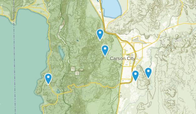 Carson City, Nevada Trail Running Map