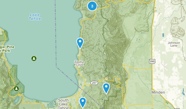 Glenbrook, Nevada Dogs On Leash Map