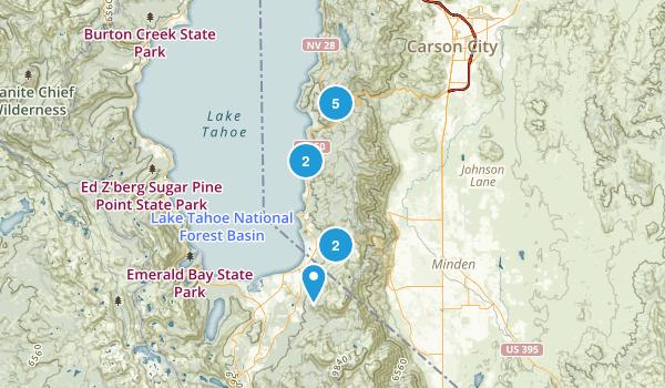 Glenbrook, Nevada Hiking Map