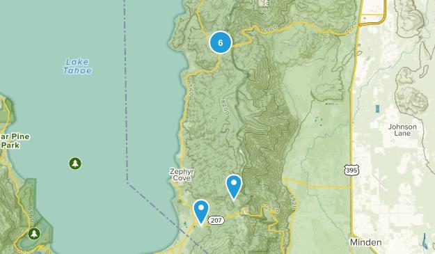 Glenbrook, Nevada Mountain Biking Map