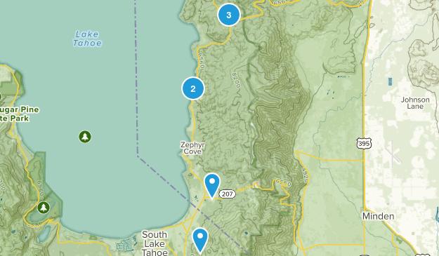 Glenbrook, Nevada Nature Trips Map