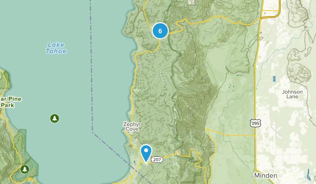 Glenbrook, Nevada Trail Running Map