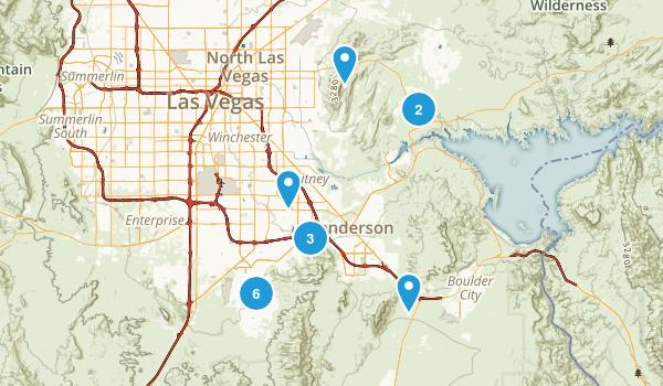 Henderson, Nevada Hiking Map