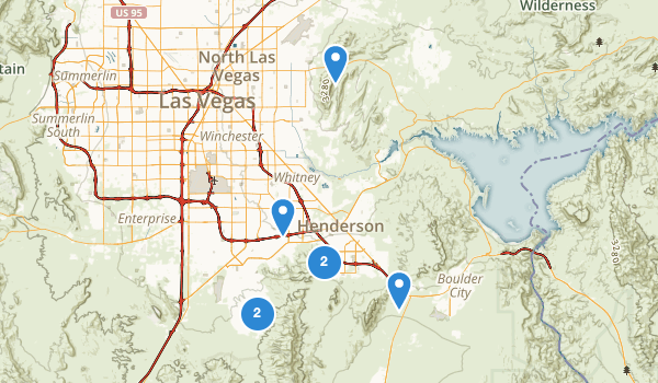 Henderson, Nevada Trail Running Map