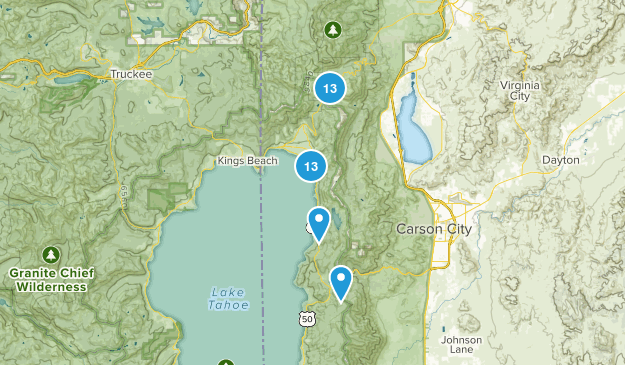 Incline Village, Nevada Hiking Map