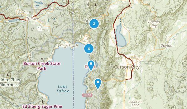 Incline Village, Nevada Lake Map
