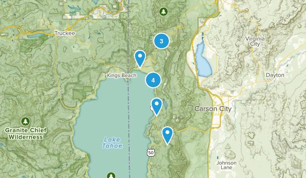 Incline Village, Nevada Lake Map