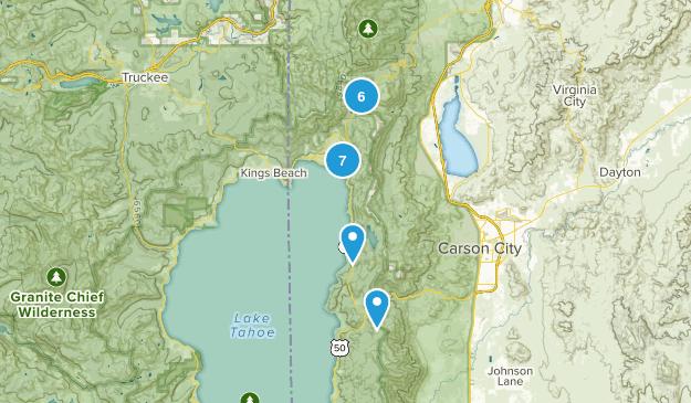 Incline Village, Nevada Mountain Biking Map