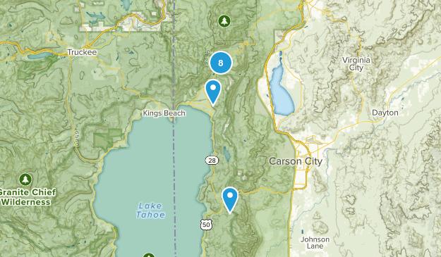 Incline Village, Nevada Snowshoeing Map