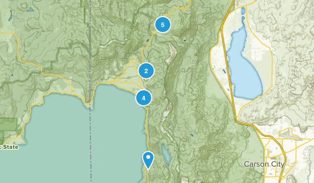 Incline Village, Nevada Trail Running Map