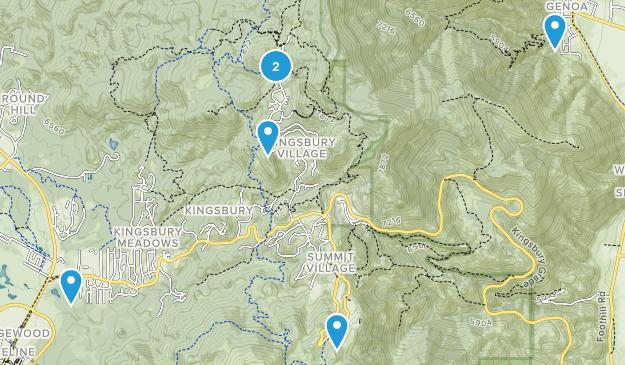 Kingsbury, Nevada Nature Trips Map