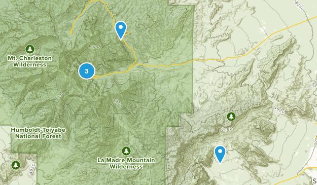 Las Vegas, Nevada Camping Map