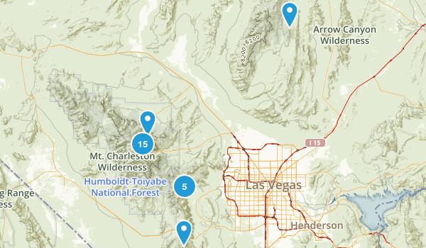 Las Vegas, Nevada Forest Map