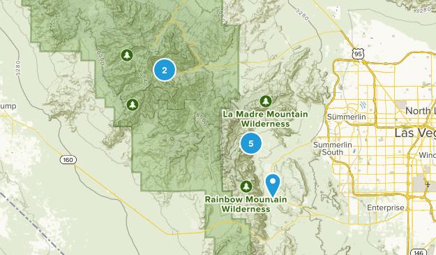 Las Vegas, Nevada Waterfall Map