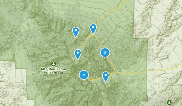 Mount Charleston, Nevada Nature Trips Map