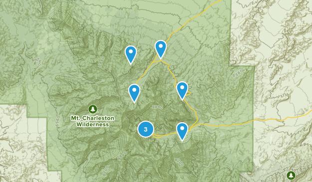 Mount Charleston, Nevada Walking Map
