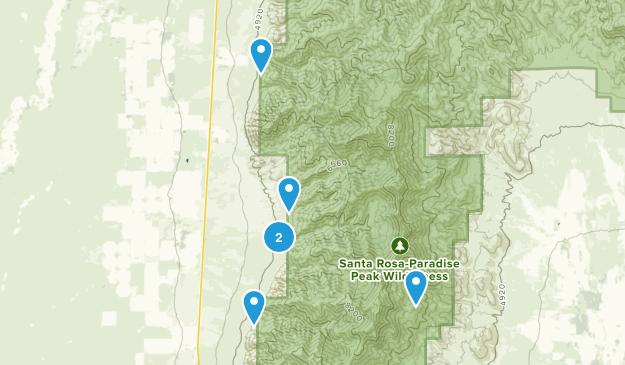 Orovada, Nevada Hiking Map