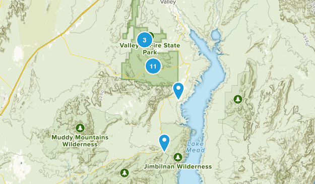 Overton, Nevada Nature Trips Map