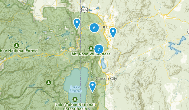 Reno, Nevada Forest Map