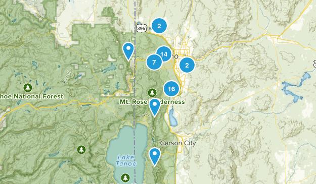 Reno, Nevada Hiking Map